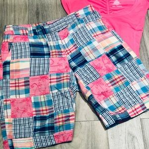 Lily Pulitzer Patchwork Shorts Pink/Blue &T-shirt